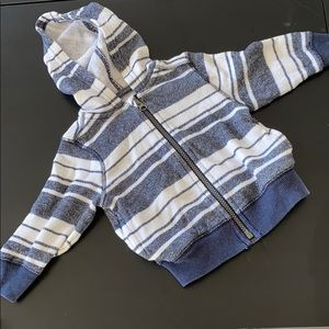Old Navy Striped Hoodie sz 12-18mo